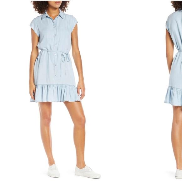 BB Dakota Dresses & Skirts - BB Dakota chambray swing dress